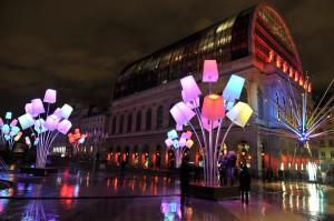 """Fête des Lumières 2012 : """"LIGHT IN"""" de Tilt Projet, place Louis Pradel"""