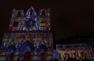 """Fête des Lumières 2012 : """"LES CHRYSALIDES"""", Cathédrale Saint-Jean"""
