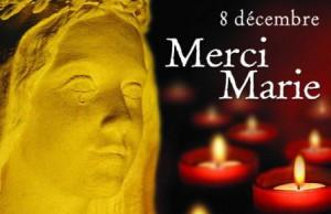8 décembre : Hommage à la Vierge Marie