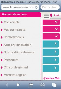 Services site mobile HomeMaison