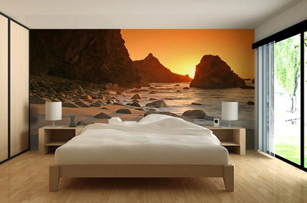 papier peint photo soleil cache paysage nature le blog. Black Bedroom Furniture Sets. Home Design Ideas