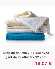 drap de douche avec gant Home Maison