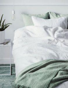 Linge de lit en lin esprit bord de mer