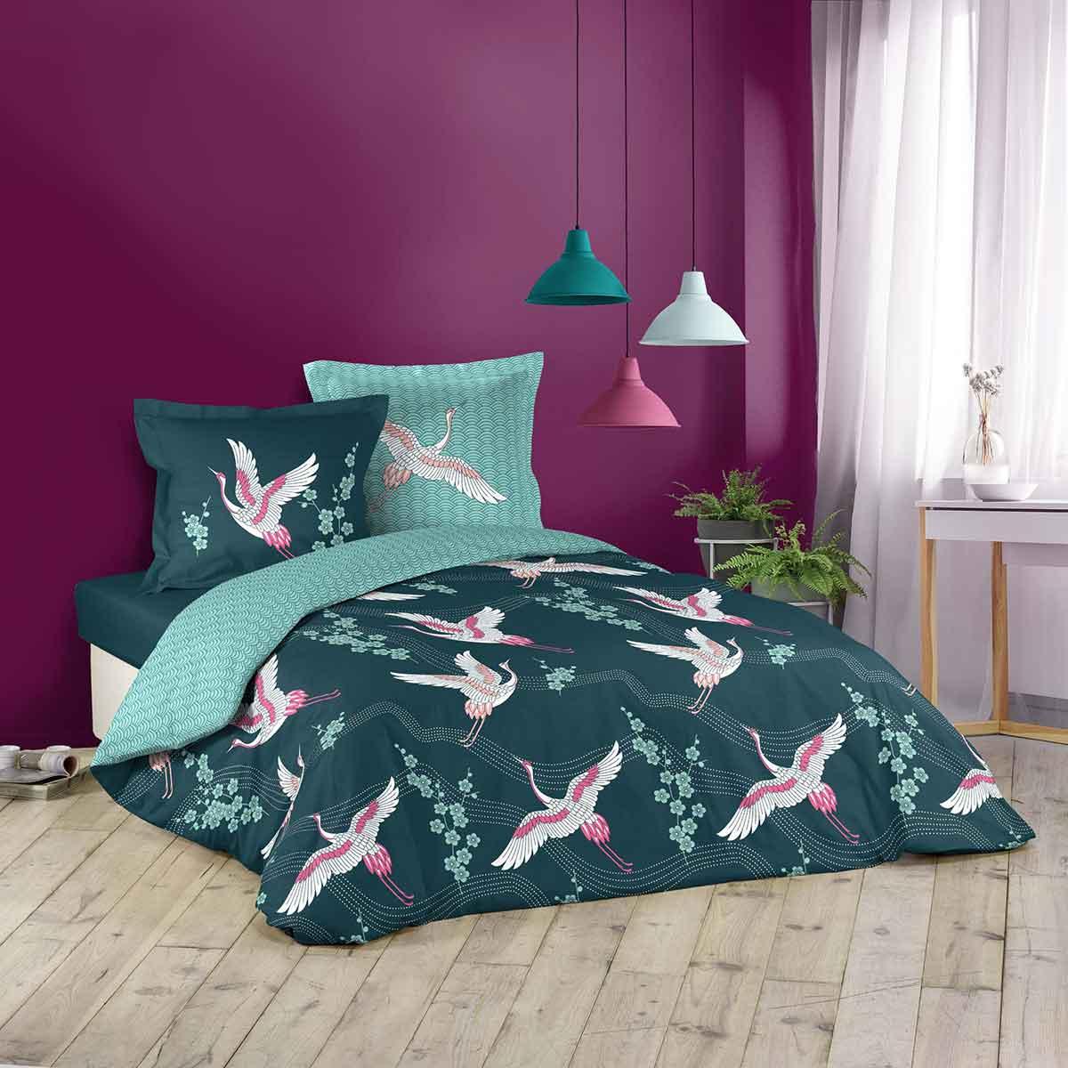 Motifs animals : parures de lit
