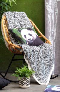 "Plaid Jacquard ""Panda"""