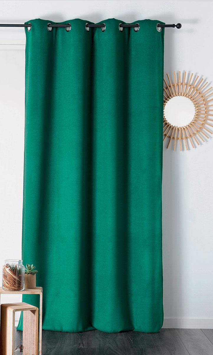 Le vert dans la déco : rideau