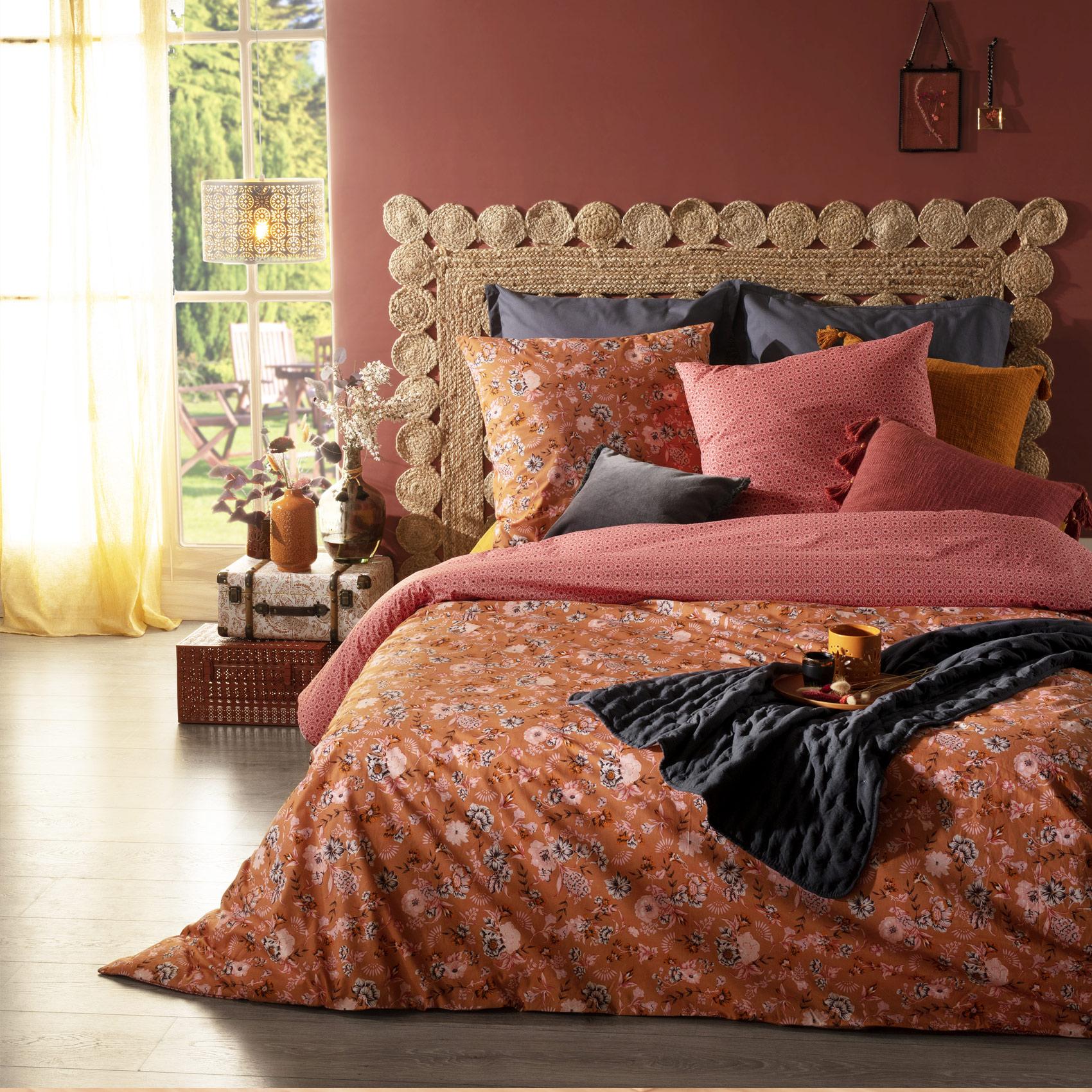 Parure de lit fleurie