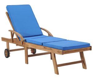 Chaise longue réglable avec coussin