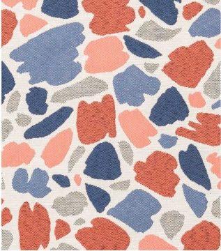 Tissu imprimé taches multicolores