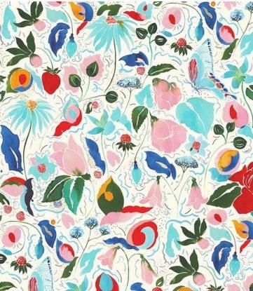 Tissu imprimé jardin floral